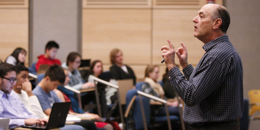 Photo of Daniel Notterman conducting a class