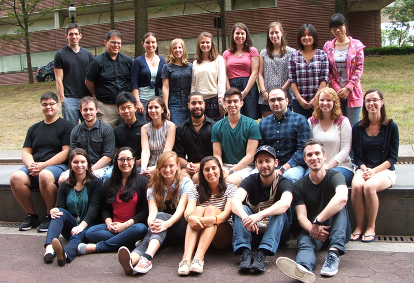 Photo of graduate student incoming class for 2015.