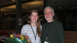 Allison Hall with advisor Professor Mark Rose
