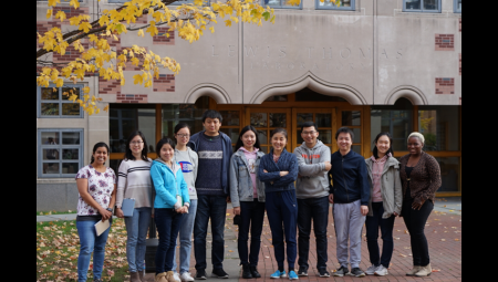 Yan lab in from of Lewis Thomas Lab